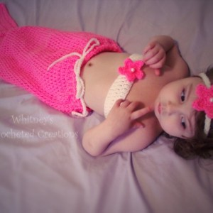 crochet mermaid set with pearl tail / handmade/ made to order / newborn to 5t / photography prop