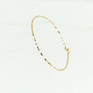 Open Bangle, Gold Bangle 14K Gold Filled, Thin Bangle Bracelet, Dainty Bangle, Twisted Wire Bracelet, Yellow Gold Bracelet, Gold Bangle