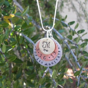 Mommy 3 layer personalized charm necklace with kids names