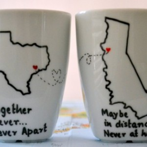 Long Distance Relationship Mugs State To State Coffee Mug Set O Aftcra