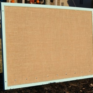Burlap Cork Board Message Board