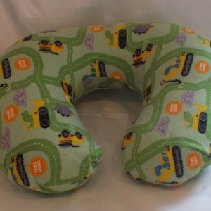 Construction Vehicles Nursing Pillow Cover in Flannel