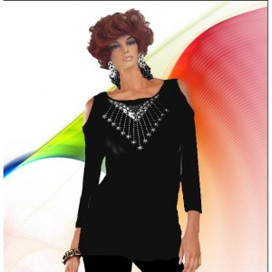 Bare Shoulder Rhinestone Top Choose Design And Fabric Made To Measurement