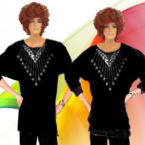 Dolmen Sleeve Rhinestone Matte Jersey Choose Design And Fabric Made To Measurement