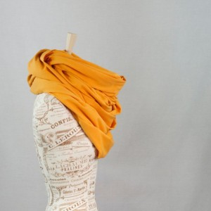 Oversized Golden Yellow Infinity Scarf
