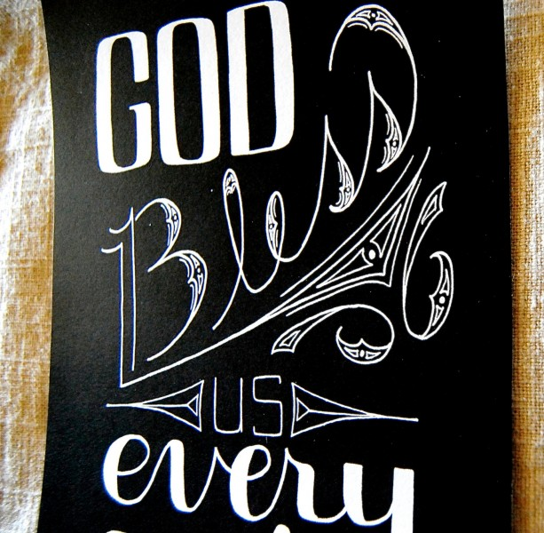 God Bless Us // A Christmas Carol // Charles Dickens Quote // Tin   aftcra