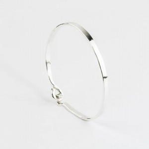 Thick Bangle, Sterling Silver Bangle, Thick Silver Bracelet, Hammered Silver Bangle, Silver Open Bangle, Hand Forged, Minimalist Jewelry