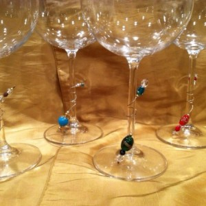 Wine glass charms, wine lovers, Wine jewelry, Wine accessory. entertaining, hostess gift, bridesmaids gift, party favor