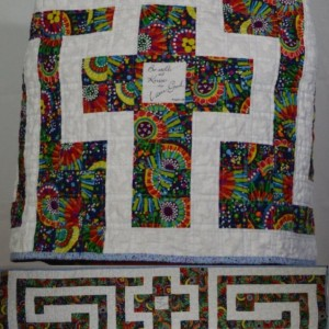 The Cross in the Labyrinth Quilted Prayer Shawl