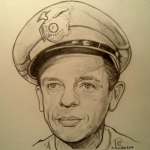 Barney Fife, Don Knotts drawing