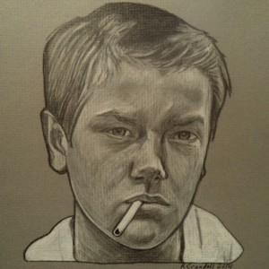 River Phoenix, Stand by me drawing
