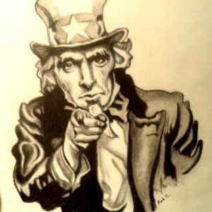Uncle Sam, Army drawing