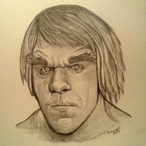 Incredible Hulk, Lou Ferrigno drawing