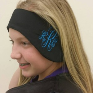 Monogrammed  head and ear warmer- embroidered custom made to order