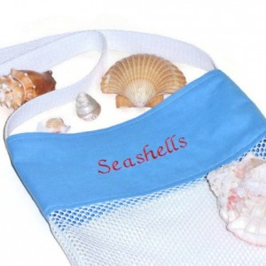 Shell Beach Bag, Embroidered, Beachcomber Tote Bag