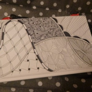 Art purse, Handmade, Zentangle inspired, on the go bag, Altered book- Patterns will vary