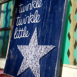 SALE Twinkle Twinkle Little Star String Art Sign Hand Painted