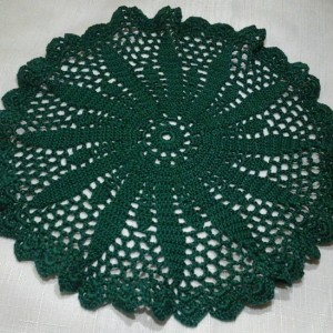 Medium Petal Doily in Winter Green.