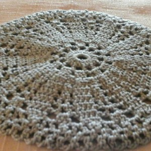 Small Petal Doily in Pastel Blue.