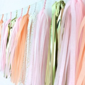 Lady Slipper Tassel Garland // Valentine's Day // Gold Confetti // Confetti Systems // Pink Peach White // Party Decor