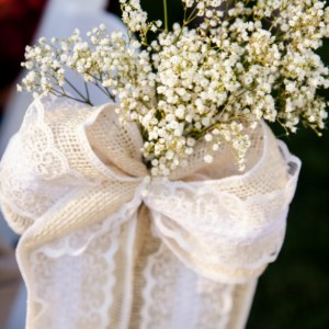 Burlap and Lace Bows, Ceremony Bows, Chair Bows