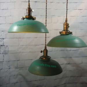Handcrafted Pottery Hanging Ceiling Pendant Chandelier Light