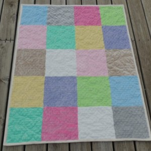 Pastel All Minky Sherpa Teen Girl Womens Lap Quilt