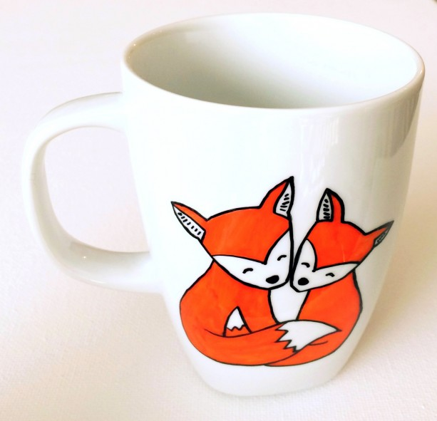 What The Fox Mug Hand Painted Woodland Friends Coffee