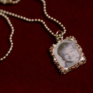 Personalized, small sized pewter pendant