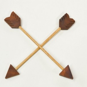 Decorative Wooden Arrow with Leather Wrap