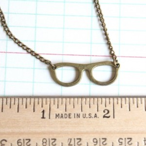 Better to See You With  Nerd Librarian Geek Bookworm Glasses Necklace