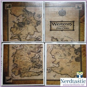 GAME OF THRONES Westeros Map Coaters (Set of 4)