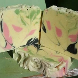 TWO BARS Little Black Dress Raw Goat Milk soap with Heavy Cream, Cocoa Butter and Kaolin Clay for that spa like feeling soft silky skin at home.