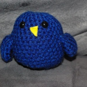 Crocheted Ami Bluebird Plush