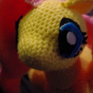 My Little Pony Fluttershy Crochet Amigurumi Plush 12 Inch