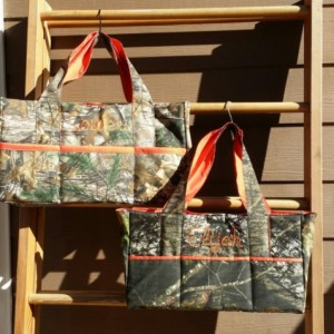 Super size XL Camo DIaper bag***Sale*** with Name embroidered-custom and personalized- washable