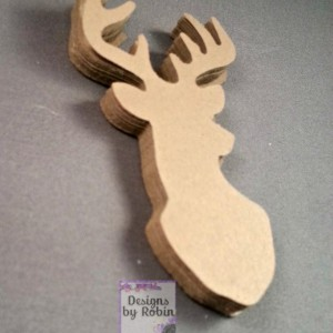 100   Deer diecuts - diecut mounted deer head - buck die cuts - wilderness diecuts-wedding - country - outdoor dies