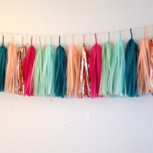 Teenage Dream Tassel Garland // tissue paper garland // home decor // party decor