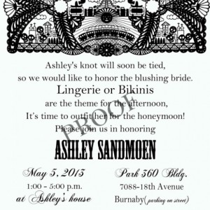 Fiesta Bridal Shower Invitation - Cinco De Mayo Invitation - Day of the dead invitation