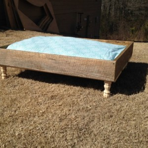 Rustic Wooden Pet Bed