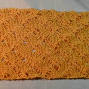 Lacey Lattice Cowl in Gold Dust Yellow