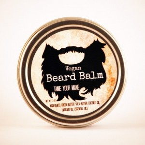 Vegan Beard Balm- The Woodsman, All Natural Beard Care, Beard Conditioner, Vegan Beard Care, Beard Oil