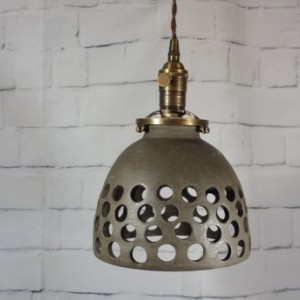 Handcrafted Stoneware Pottery Hanging Pendant Ceiling Light