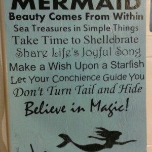 Mermaid - Sign - wood Sign - Signs -Beach Sign - Beach - Beach signs - Beach Quotes - Beach House - Deck Signs - Porch Signs - Outdoor Signs