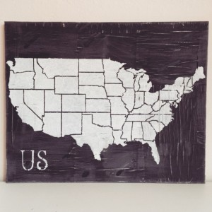 United States Map - Map, Distressed Map // FREE SHIPPING