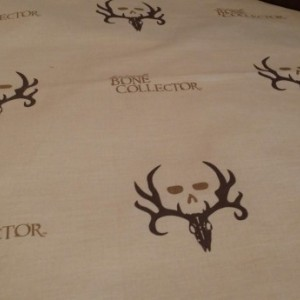Exclusive and RARE******Bone Collector 3 piece crib set****LIMITED EDITION*** ready to ship***