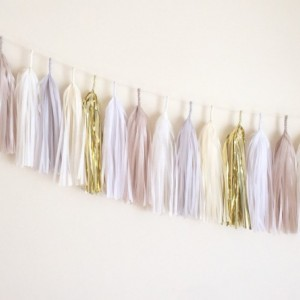 I Do Tassel Garland // gold // cream // neutrals // event decor // wedding // party // nursery //