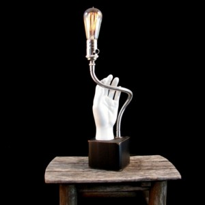 Lighting - Table Lamp - Upcycled Mannequin Hand Lamp