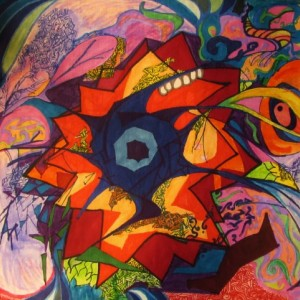 Explosion_Abstract colorful wall art