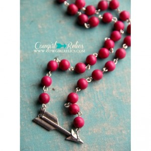 Pink and Silver Arrow Western Necklace